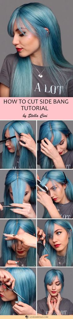 Girls who don't know how to cut bangs should try all of these tutorials. We prepared three the best tutorials that will make it absolutely clear to you. Bangs are cool, but they are not complicated, and today you will learn it once and for all. Follow these guides to rock your days with bangs! #howtocutbangs #sidesweptbangs #bluntbang #longbang #hairtutorial