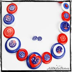 Button Necklace - Australia Day