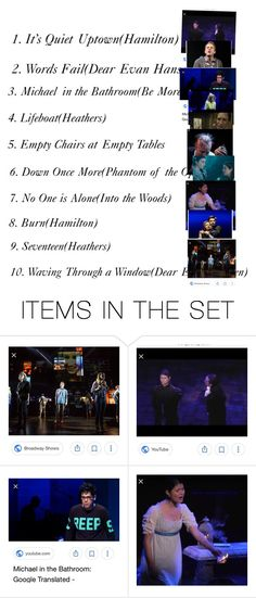 """Saddest Show Tunes"" by the-crazy-musical-fan ❤ liked on Polyvore featuring art"