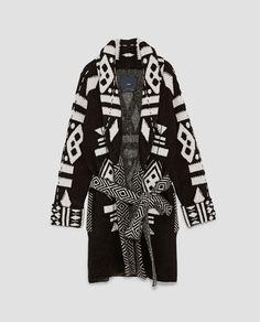 Image 8 de MANTEAU JACQUARD de Zara Manteaux, Vêtements D extérieur Femmes,  Garde 264af6ad24d4