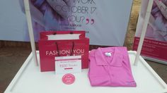 Freebies distributed to ladies in support of Breast Cancer Awareness.  #breastcancer, #fashionandyou