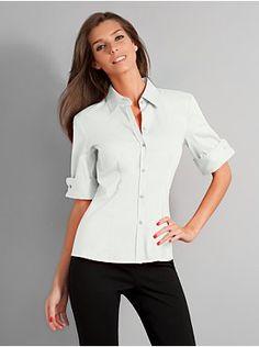 City Stretch French Cuff Shirt