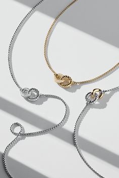 Belmont® sterling silver necklaces with diamonds or 18k gold.