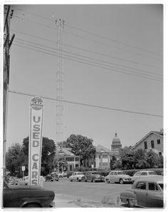 Moonlight Tower, Austin, 1954.  Neal Douglass