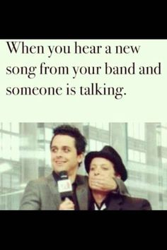 Green Day - Billie Joe Armstrong & Tre Cool. in that picture tre is probably licking billies hand