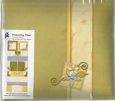 Treasuring Time Premade Album Yellow Floral 20-8956 by Provo Craft Scrapbook #ProvoCraft