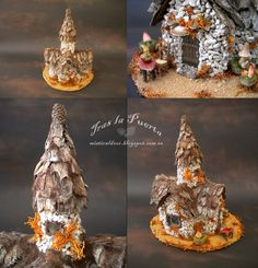 Ooak Art Doll One of a Kind Fantasy Sculpture House. By Silver Berry.