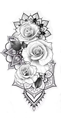 Aber mit Sonnenblumen – Flower Tattoo Designs Malika Gislason – diy best tattoo ideas - diy tattoo images - Aber mit Sonnenblumen Flower Tattoo Designs Malika Gislason diy best t - Floral Tattoo Design, Mandala Tattoo Design, Flower Tattoo Designs, Design Tattoos, Mandala Flower Tattoos, Tattoo Roses, Tattoos With Roses, Rose Tattoo Stencil, Colorful Flower Tattoo