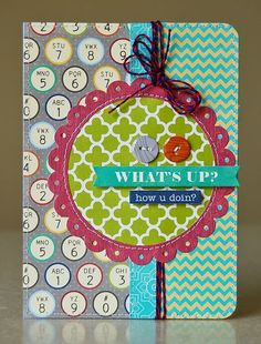 What's up card by Pam Brown - this is so cute!!!