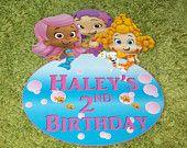 Bubble Guppies Birthday Party/Bedroom Door Tag Sign Decoration. $9.99, via Etsy.
