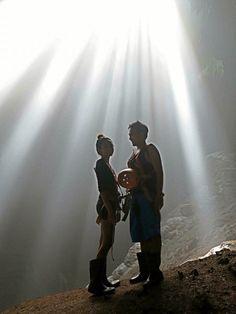 July 2016: Jomblang Cave in Yogyakarta, Indonesia