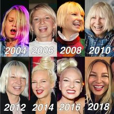 Sia Furler being her gorgeous self through the years. She's more beautiful with each birthday the passes! Maddie Ziegler Sia, Sia And Maddie, Sia Music, Jazz Music, Sia Kate Isobelle Furler, Acid Jazz, Bagdad, Jazz Band, Famous Singers