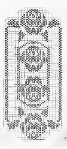 @nika Crochet Tablecloth Pattern, Crochet Curtains, Crochet Doilies, Filet Crochet, Hand Embroidery Patterns, Cross Stitch Borders, Crochet Baby, Diy And Crafts, Crochet Motif