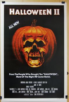Halloween II is a 1981 American slasher film and the second installment in the Halloween film series. Directed by Rick Rosenthal, written and produced by John Carpenter and Debra Hill, it is a direct sequel to Carpenter's Halloween, (fr=Halloween Halloween Film, Halloween 2 1981, Halloween Horror, Halloween Timeline, Halloween Poster, Happy Halloween, Horror Movie Posters, Horror Films, Horror Art