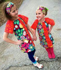 Girls Funky Floral Mod Shift Dress by BlueEyesAndBareFeet on Etsy, $36.00