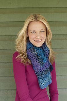 """Easy to crochet scarf...I never got """"lost"""" and had to go back, even though I crochet while watching John flick channels."""