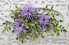Beautiful card using Sue Wilson Open Petals Die (Delicate Daisies) Creative Expressions.