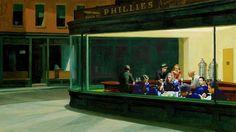 """""""NightHawkeye"""" (based on Edward Hopper's famous 1942 painting """"Nighthawks"""")"""