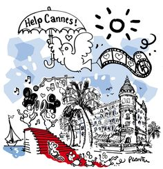 dessin de Plantu Help Cannes petit