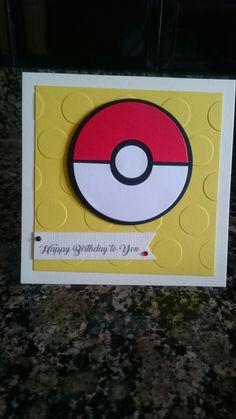 Handmade Pokemon birthday card