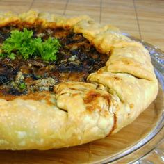 Mushroom Galette-calls for Stilton Blue Cheese, but also excellent with Asiago.