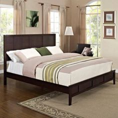 Modway Holly Bed, Black, Brown