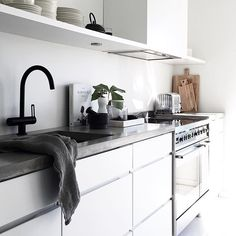 """""""New in./ The tap from Tapwell in matte black is the perfect detail in my white kitchen. Have you seen they've got taps in both black, brass and copper as well as chrome? Great quality and design. #ad #annonse #tapwell #rin184 #elisabethheiershome @tapwell"""" Photo taken by @elisabeth_heier on Instagram, pinned via the InstaPin iOS App! http://www.instapinapp.com (09/27/2015)"""