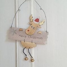 Scandi-Wooden-Hanging-Decoration-with-Reindeer-and-Merry-Christmas-Design-Gift