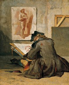 Jean Simeon Chardin  Young Student Sketching  1738