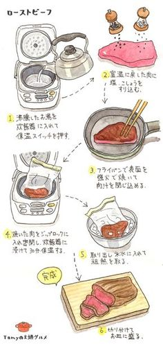 This furniture is purrrfect for cats! Asian Recipes, Beef Recipes, Cooking Recipes, Chicken Basil Pasta, Food Drawing, Food Illustrations, Easy Cooking, Japanese Food, No Cook Meals