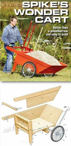 Plans of Woodworking Diy Projects - Teds Wood Working - DIY Garden Cart - Outdoor Plans and Projects | WoodArchivist.com - Get A Lifetime Of Project Ideas & Inspiration! Get A Lifetime Of Project Ideas & Inspiration! #diywoodprojects #woodcraftsdiy #woodworkingplans