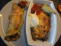Karbonadeform /evt burritos | Lavkarbo gjort enkelt Burritos, Eggs, Meat, Chicken, Breakfast, Food, Breakfast Burritos, Morning Coffee, Egg