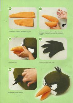 Eu Amo Artesanato: Angry Birds com molde e passo a passo