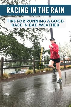 Racing in the rain can happen to anyone, especially with spring races like the Boston Marathon. These tips will help you have a good race in bad weather! Running Humor, Running Motivation, Running Workouts, Running Tips, Funny Running, Running Half Marathons, Half Marathon Training, How To Run Faster, How To Run Longer