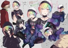 Cute Anime Pics, Cute Anime Boy, Kawaii Drawings, Cute Drawings, Anime Kunst, Anime Art, Anime Style, The Wolf Game, Rainbow Boys