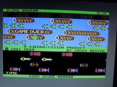 Frogger SEGA - Commodore 64 C64 8bit