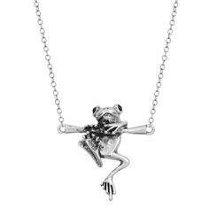 Wholesale 10pcs/lot 3D Baby Frog on a Branch Animal Charm Necklace for Women Girl Gift 3D Vintage Necklace For Men Jewelry