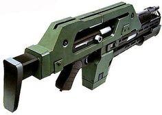 Paper puzzle aliens pulse rifle kit
