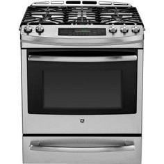 GE Profile 5.9 cu. ft. Dual Fuel Range with Self-Cleaning Convection Oven in Stainless Steel-P2S920SEFSS - The Home Depot