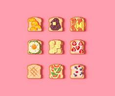 Pixel Art Food, Pixel Art Games, Piskel Art, Pix Art, Pretty Art, Cute Art, Perler Bead Art, Art Icon, Kawaii Art