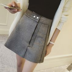 New Fashion Suede Skirts Women 2017 Spring Saias High Waist A Word Skirt Oblique Zipper Mini Skirt Large Size Jupe Female Faldas-in Skirts from Women's Clothing & Accessories on Aliexpress.com | Alibaba Group