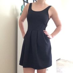Little Black Dress This little black dress zips in the back, with a v shaped dip in the back. It has pockets! Super comfortable and only been worn once! Aeropostale Dresses