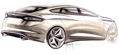 Ford Fusion Render by Andrea di Buduo Car Design Sketch, Hand Sketch, Motorcycle Design, Ford Fusion, Car Drawings, Cool Sketches, Transportation Design, Automotive Design, Hot Cars
