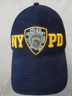 951568c75ef NYPD Ball Cap New York Police Hat Embroidered Logo Stars and Strips Bill  Trim  NYPD