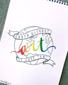 earth without art is just eh // ig: – Erde ohne Kunst ist nur eh // ig: @ [. Hand Lettering Quotes, Calligraphy Quotes, Typography, Doodle Quotes, Doodle Art, Quote Art, Art Quotes, Diy Planner, Art Sketches