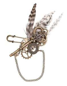 Make your Steampunk Themed Wedding complete with this Steampunk Boutonniere. Thisamazing steampunk boutonniere is a must-have accessory for the groom, groomsme
