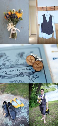 Camp Wedding on Golden Lake from A Simple Photograph + Honey & Dear – Style Me Pretty
