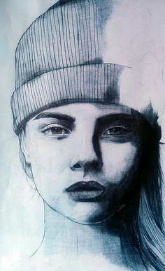 Ballpoint Pen - Cara Delevingne by Lyes. Instagram : CELLULESOUCHE