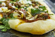 This simple Flatbread with Spiced Lamb recipe is flavour packed. Serve the spiced lamb on top of the flatbread and add some fresh yoghurt! Best Lamb Recipes, Uk Recipes, Supper Recipes, Meat Recipes, Indian Food Recipes, Cooking Recipes, Ethnic Recipes, Cooking Stuff, Turkey Recipes