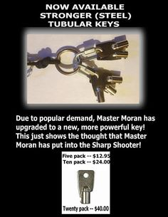 Strong steel tubular key 20 pack by sharpshooterkeychain on Etsy